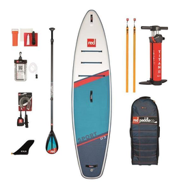 "Red Paddle Co Red Paddle Co 11'3"" Sport Inflatable SUP Package w/  Carbon 50 Nylon Paddle 2021"