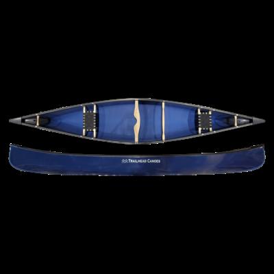 Trailhead Canoes Trailhead Canoes Prospector 16, Featherglass, Vinyl Trim, Colour Matched Skid Plates