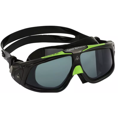 Aqua Sphere Aqua Sphere Seal 2.0 Goggles, Black/Green w/ Clear Lens