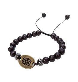 Sherpa Sherpa Mala Wood Beads Bracelet, Endless Knot