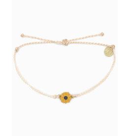 Pura Vida Pura Vida Enamel Sunflower Silver Bracelet