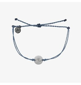 Pura Vida Pura Vida Pave Wave Coin Silver Bracelet