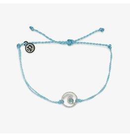 Pura Vida Pura Vida Shimmering Wave Silver Bracelet