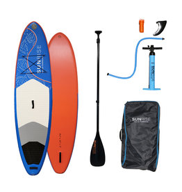 """Sunrise Stand Up Paddleboards Sunrise 10'2"""" x 32"""" Little Cayman Inflatable SUP w/ Paddle"""