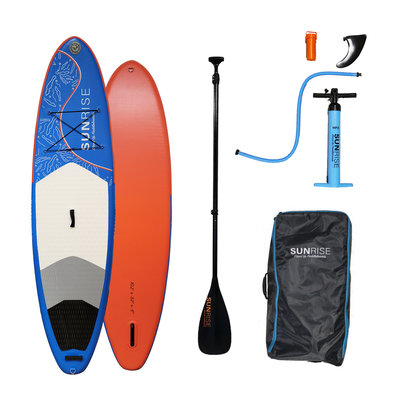 """Sunrise Stand Up Paddleboards Sunrise 10'2"""" x 32"""" Little Cayman Inflatable SUP w/Paddle"""