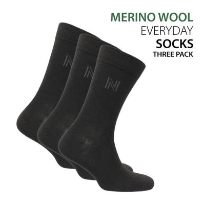 Norfolk Socks Norfolk Merino Everyday Crew Socks 3pk