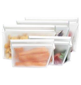 (re)zip (re)zip 5-piece Stand-Up Leakproof Reusable Storage Bag Kit