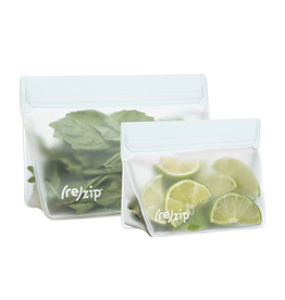 (re)zip (re)zip Stand-Up Leakproof Reusable Storage Bags (1 cup + 2 cup)