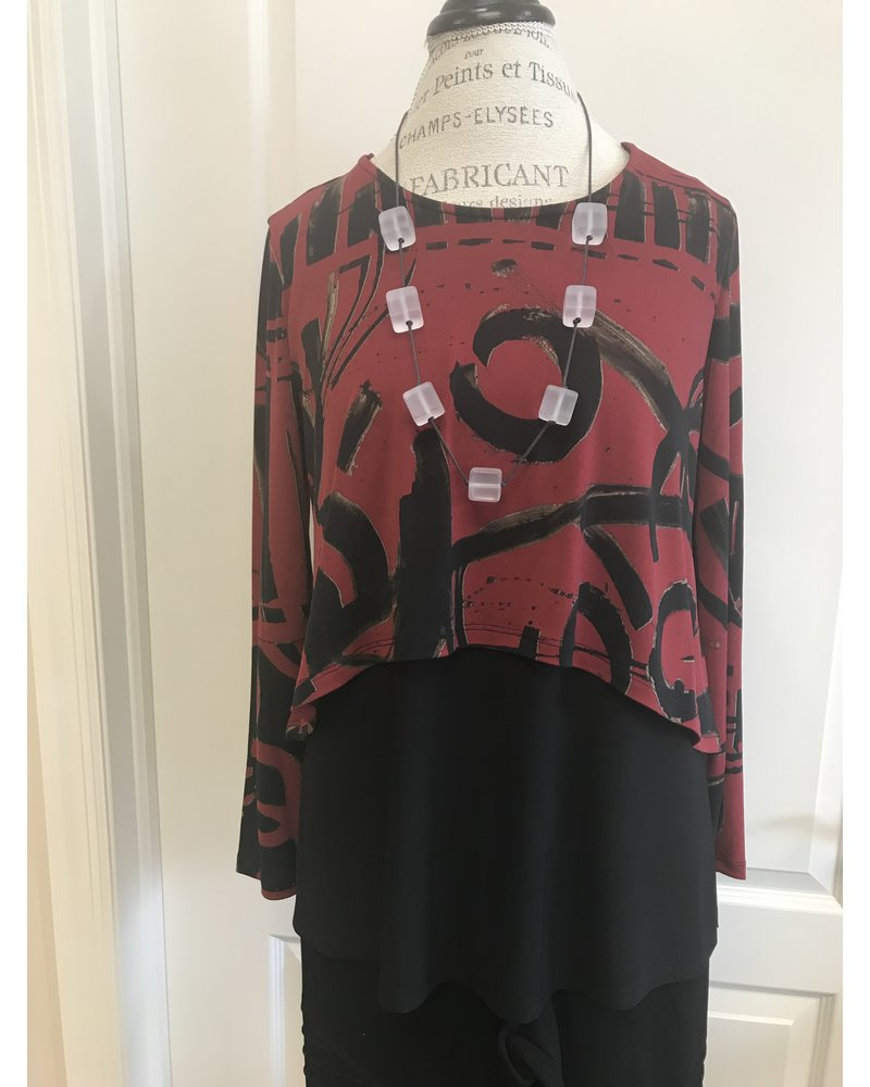By JJ Printed Shorty Pop Over Top