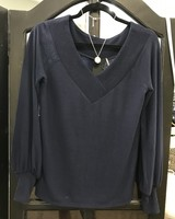 Heather Heather Ember V Neck Puff Sleeve Top