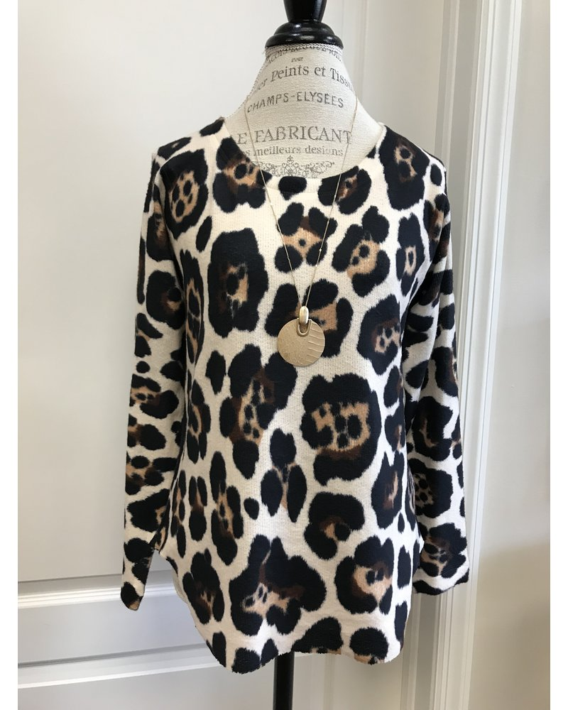 Nally & Millie Nally & Milly Leopard Print Top