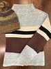Hem & Thread Mock Neck Stripe Sweater