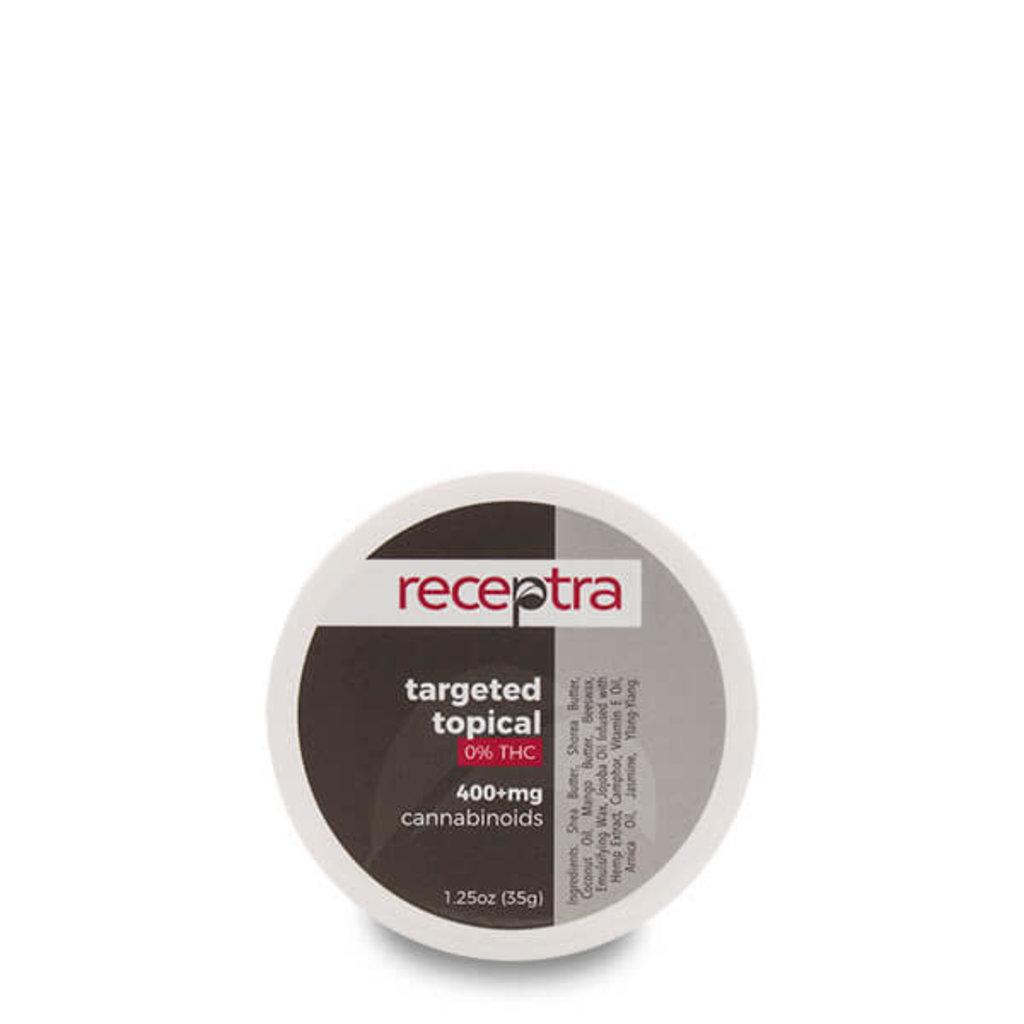 Receptra Receptra 0% THC Targeted Topical 1.25oz (400mg/jar)