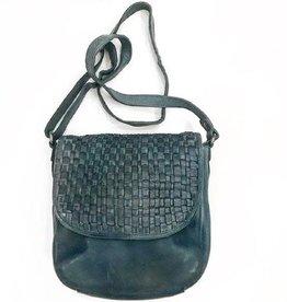 Abigail Woven Cross Body Bag - Steel Grey