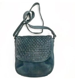 Abigail Woven Cross Body Bag - Steel Grey