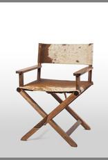 Billie Director Chair - Brown/White Hide