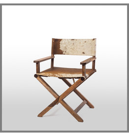 Horgans BILLIE DIRECTOR CHAIR BROWN/WHITE HIDE
