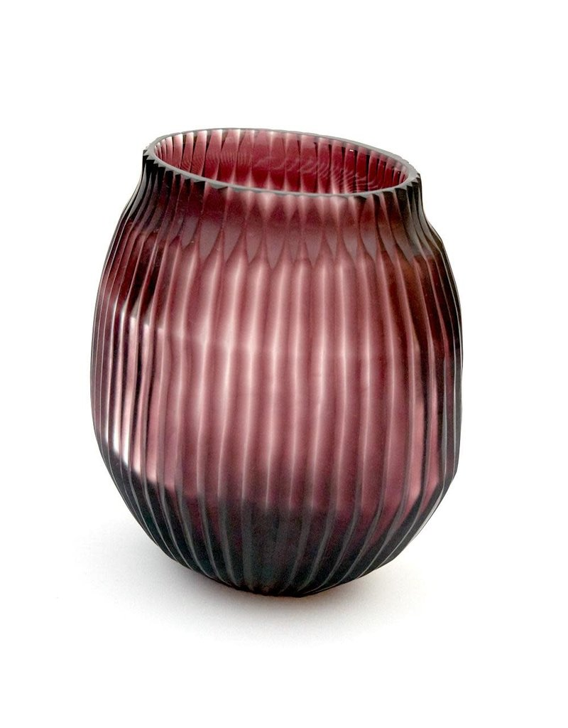 Brisonhome Brian Tunks Cut Glass Blush Vase Small
