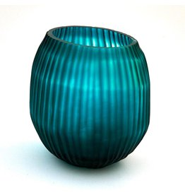 Brisonhome Brian Tunks Cut Glass Turquise Vase Small