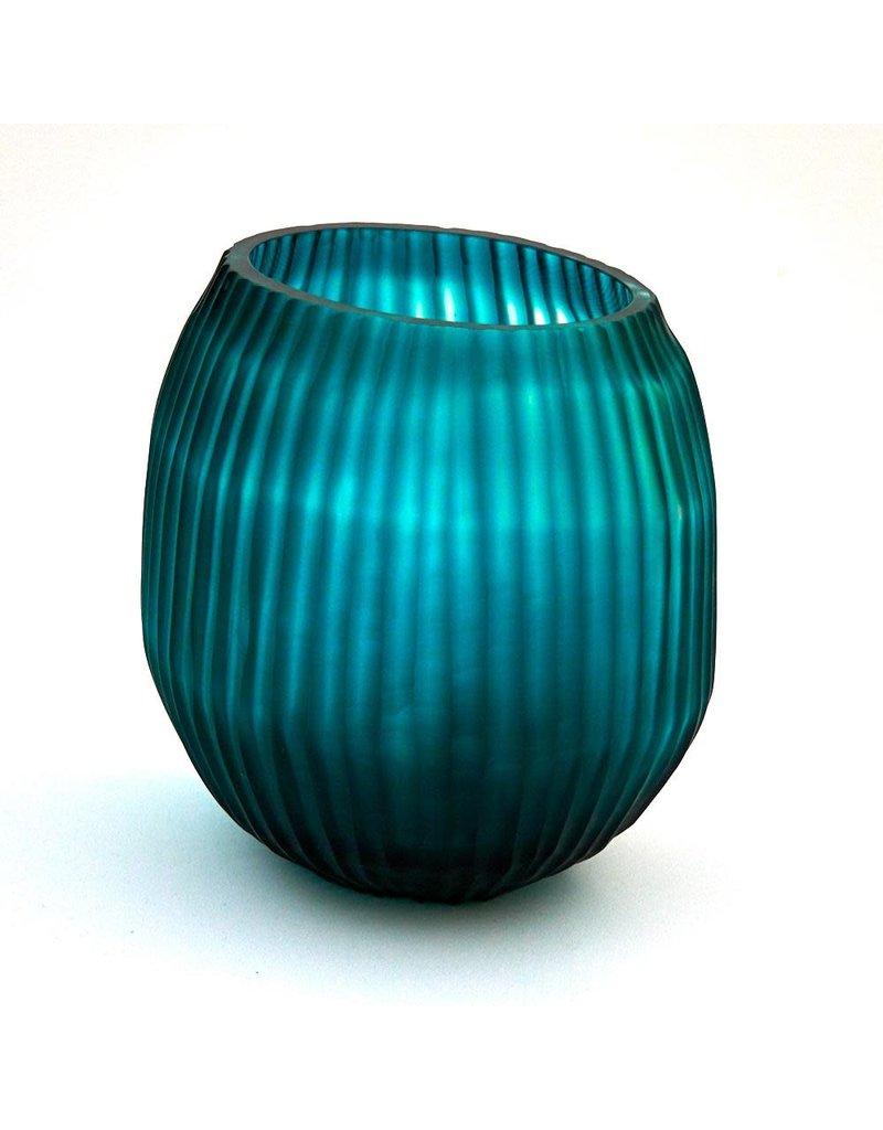 Brisonhome Brian Tunks Cut Glass Turquise Vase Small