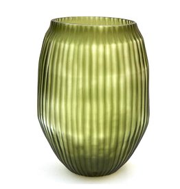 Brisonhome Brian Tunks Cut Glass Vase Medium