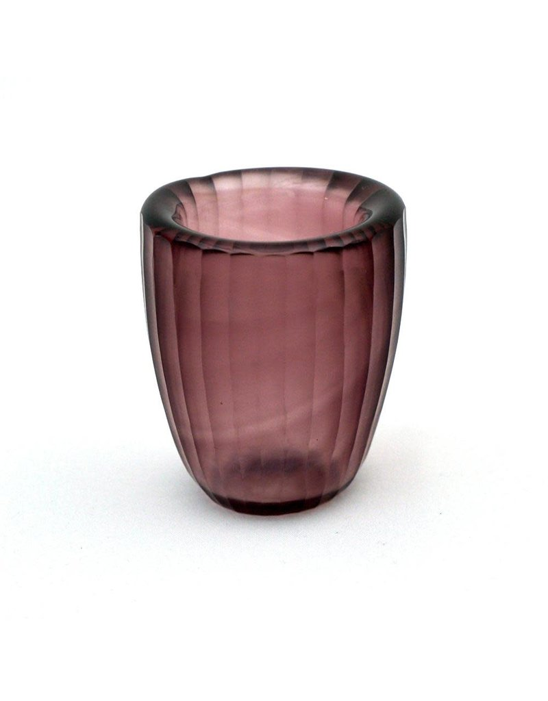 Brisonhome Brian Tunks Cut Glass Beaker, Small Blush