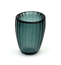 Brisonhome Brian Tunks Cut Glass Beaker, Small Petrol