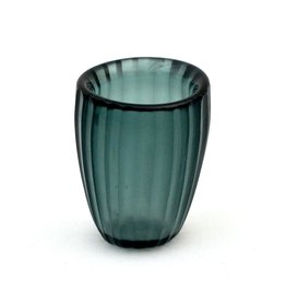 Brisonhome Brian Tunks Cut Glass Beaker, Small Petrol