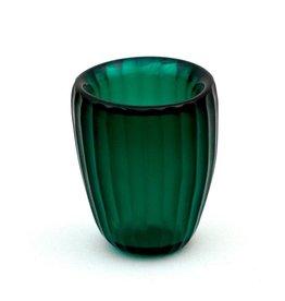 Brisonhome Brian Tunks Cut Glass Beaker, Small Emerald