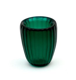 Brisonhome Brian Tunks Cut Glass Beaker, Small Emerald