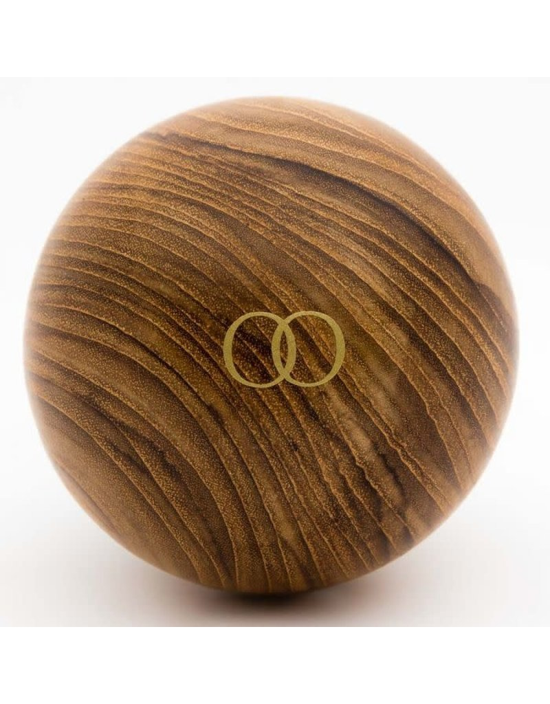 Only Orb Teak Natural Finish Orb with Oar Clear Glass