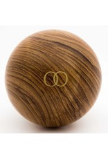 Only Orb Teak Walnut Finish Orb with Om Candle