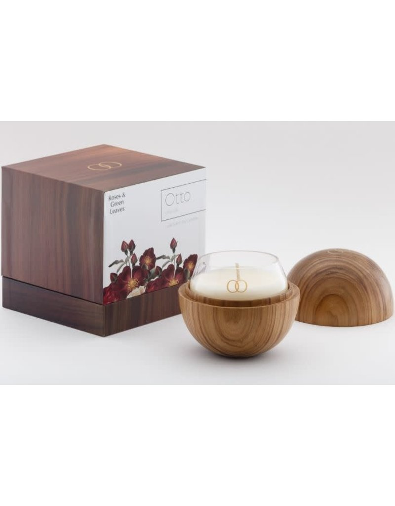 Only Orb Teak Natural Finish Orb with Otto Candle