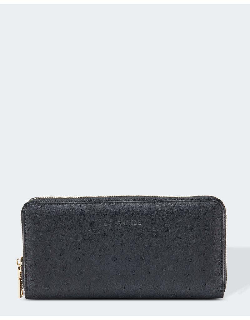 Louenhide Isla Ostrich Black  Wallet