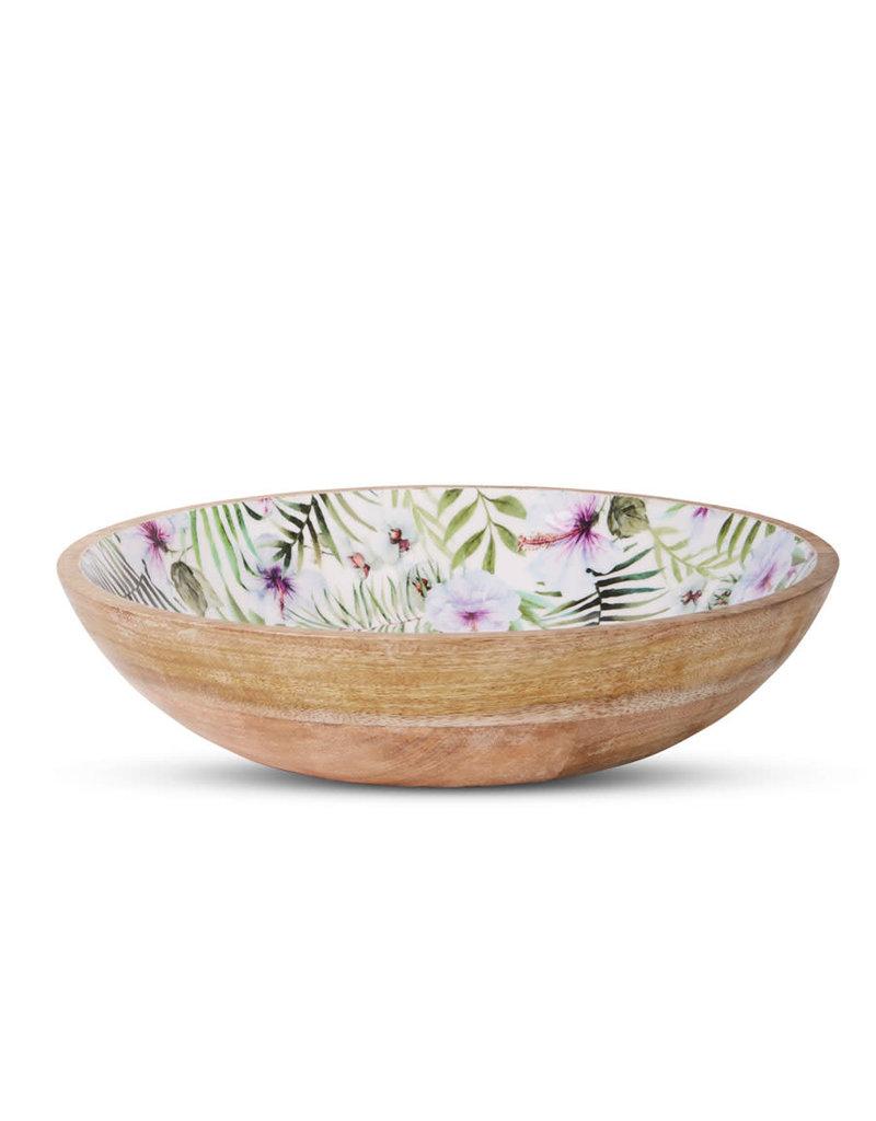 Mangowood Salad Bowl – Tropical Pink/Green