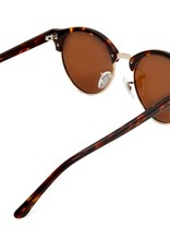 Nile Polarised Round Vintage Sunglasses with brown lens