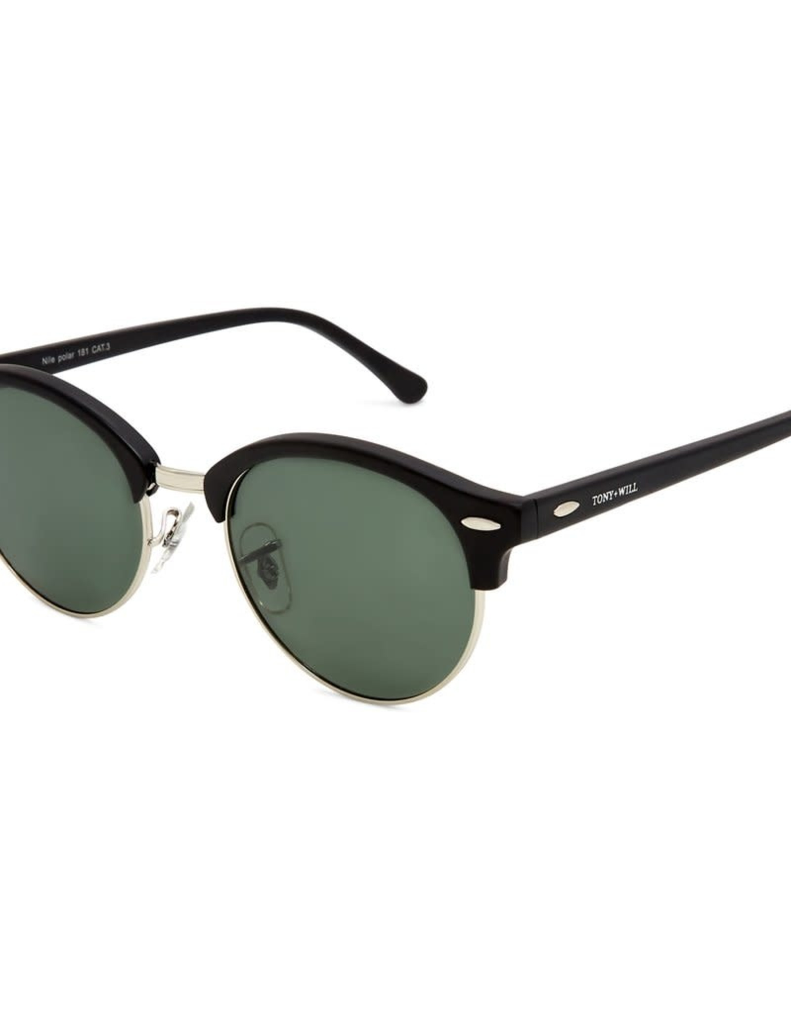 Nile Polarised Round Vintage Sunglasses with G15 lens