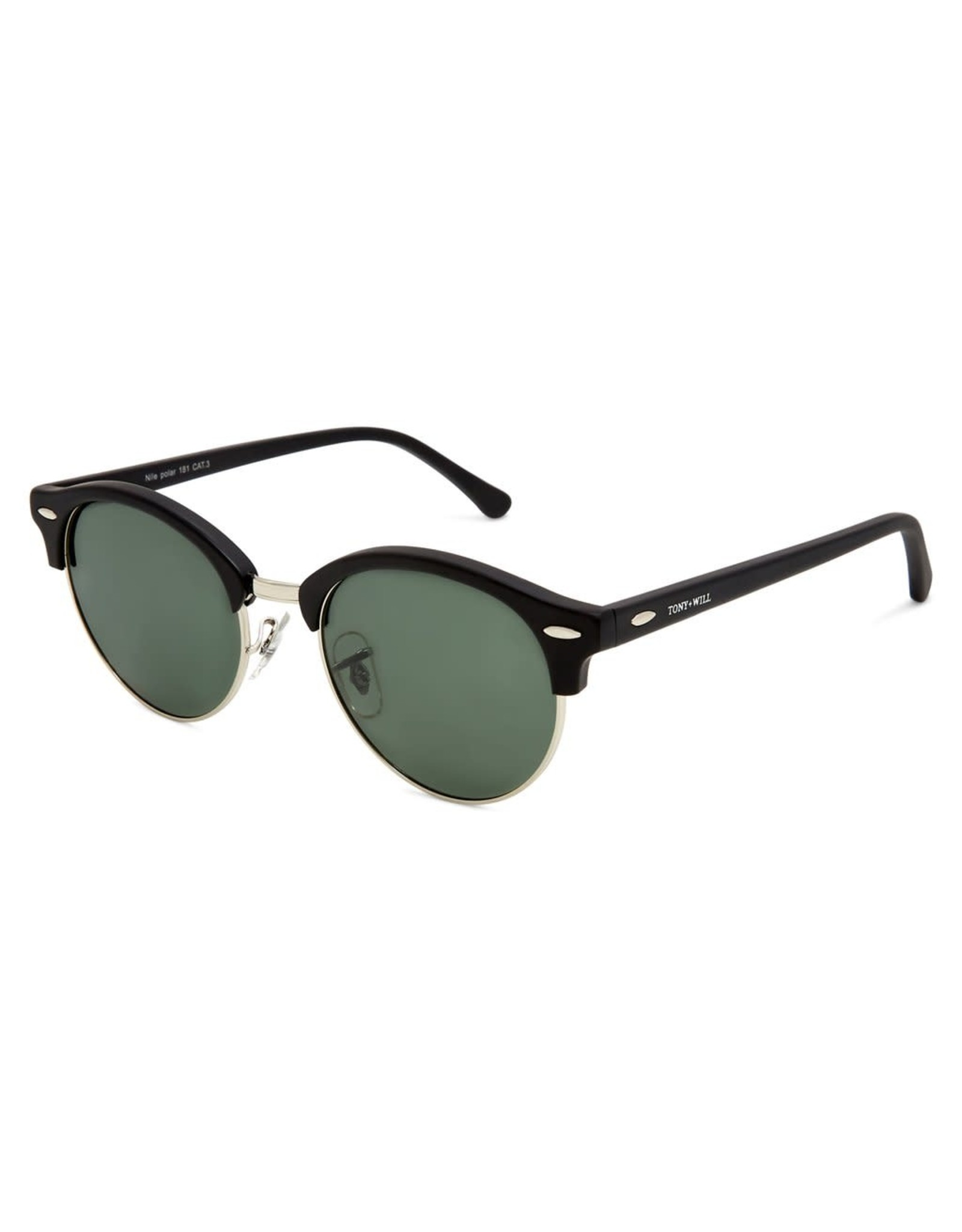 Nile Polarised Round Vintage Sunglasses with G15 lens