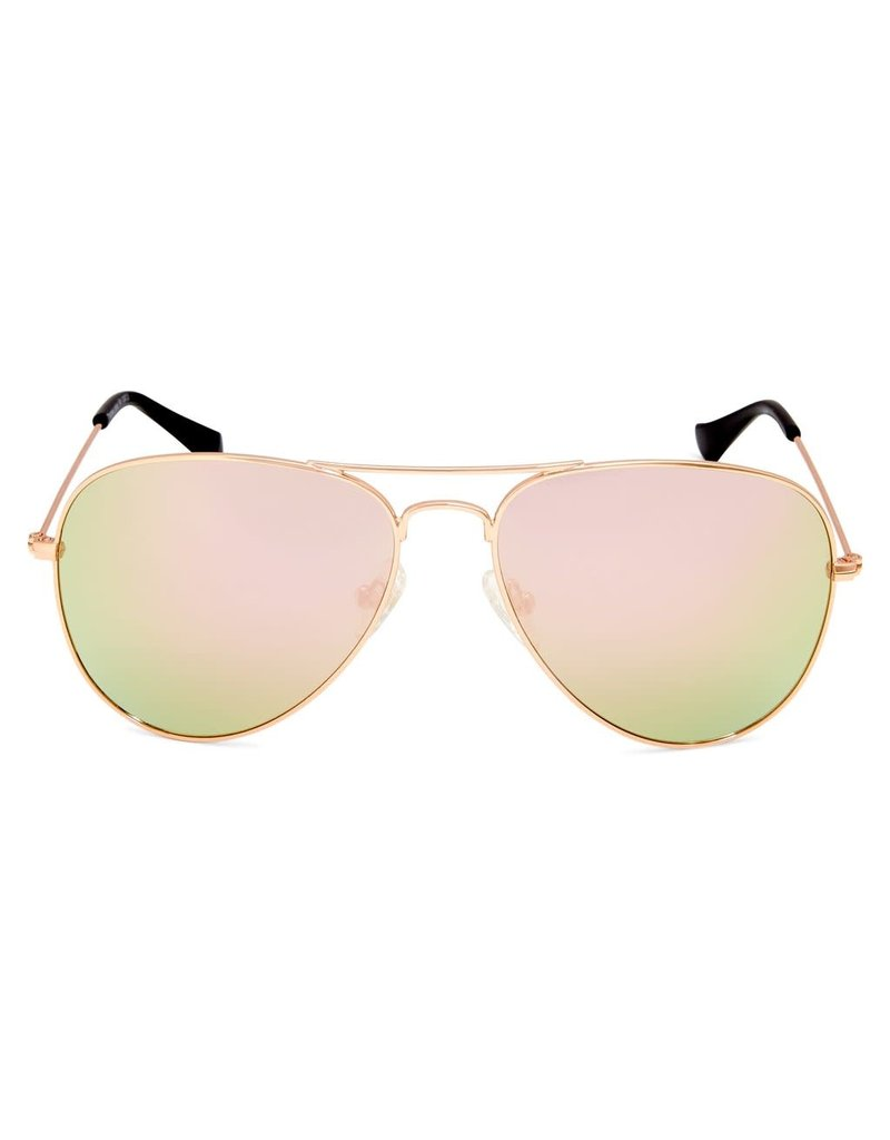 Thames Polorised Vintage Aviator Gold Womens Sunglasses