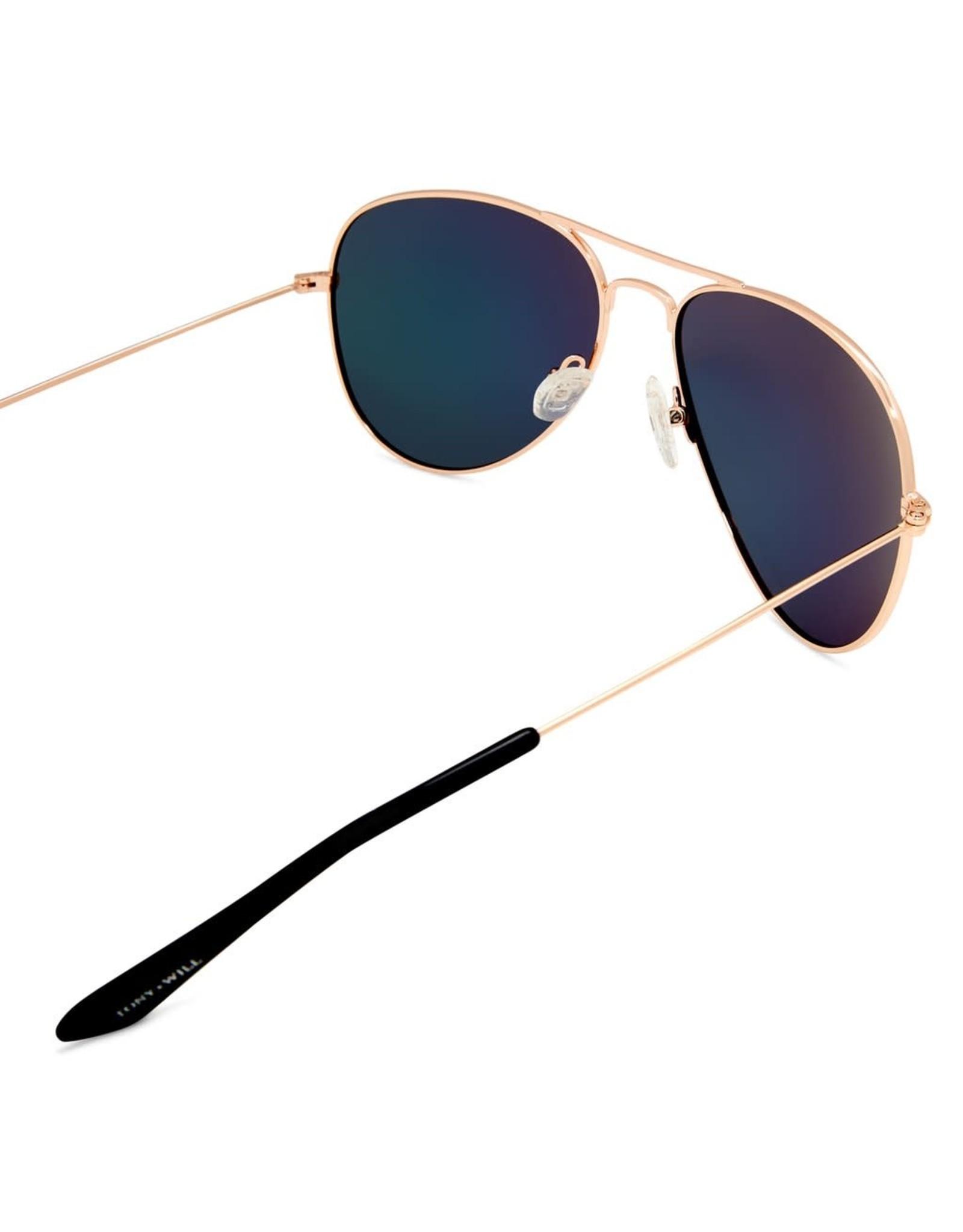 Thames Polorised Vintage Aviator Gold Womens Sunglasses