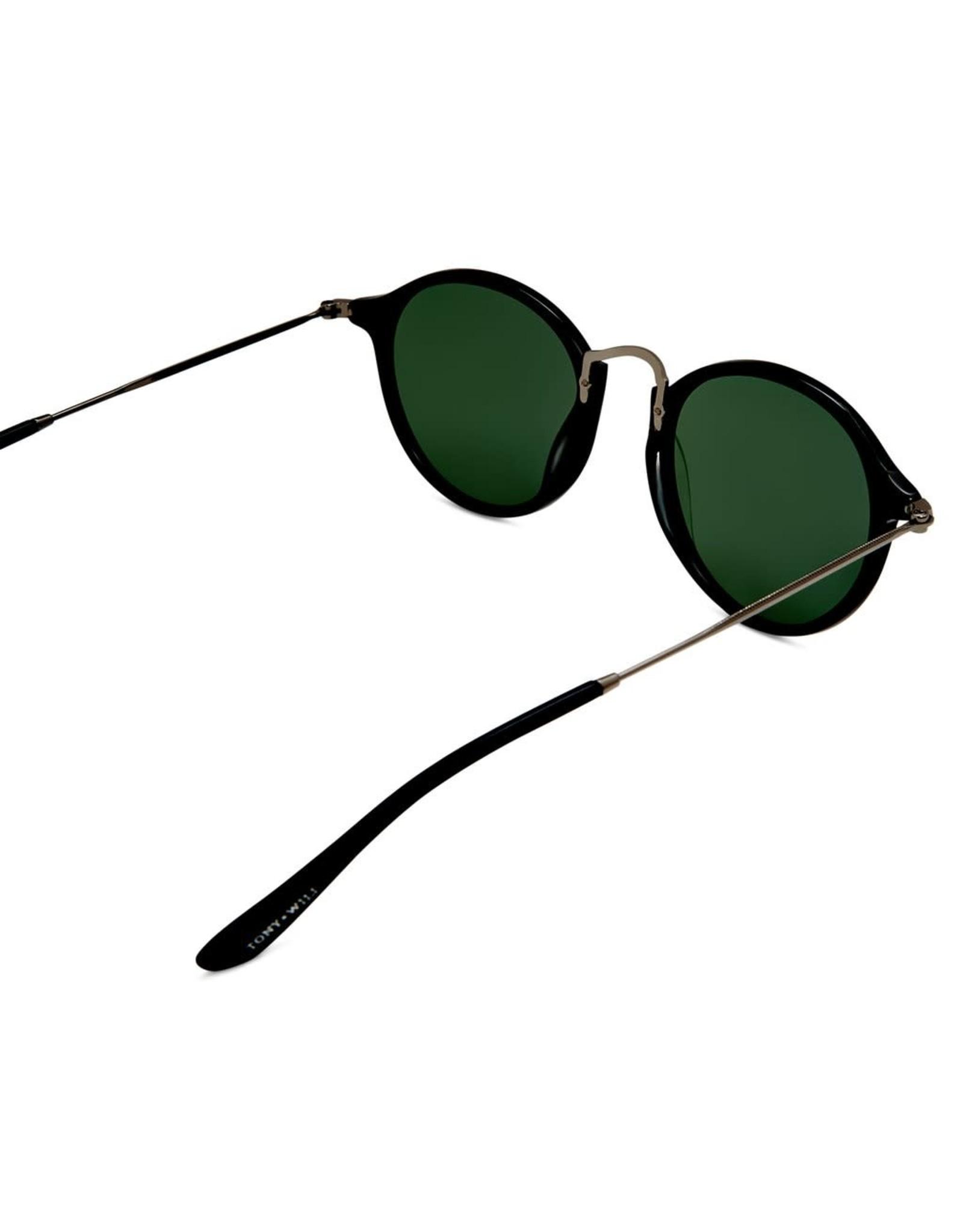 Amazon Polarised Retro Vintage Round Frame Sunglasses - Black