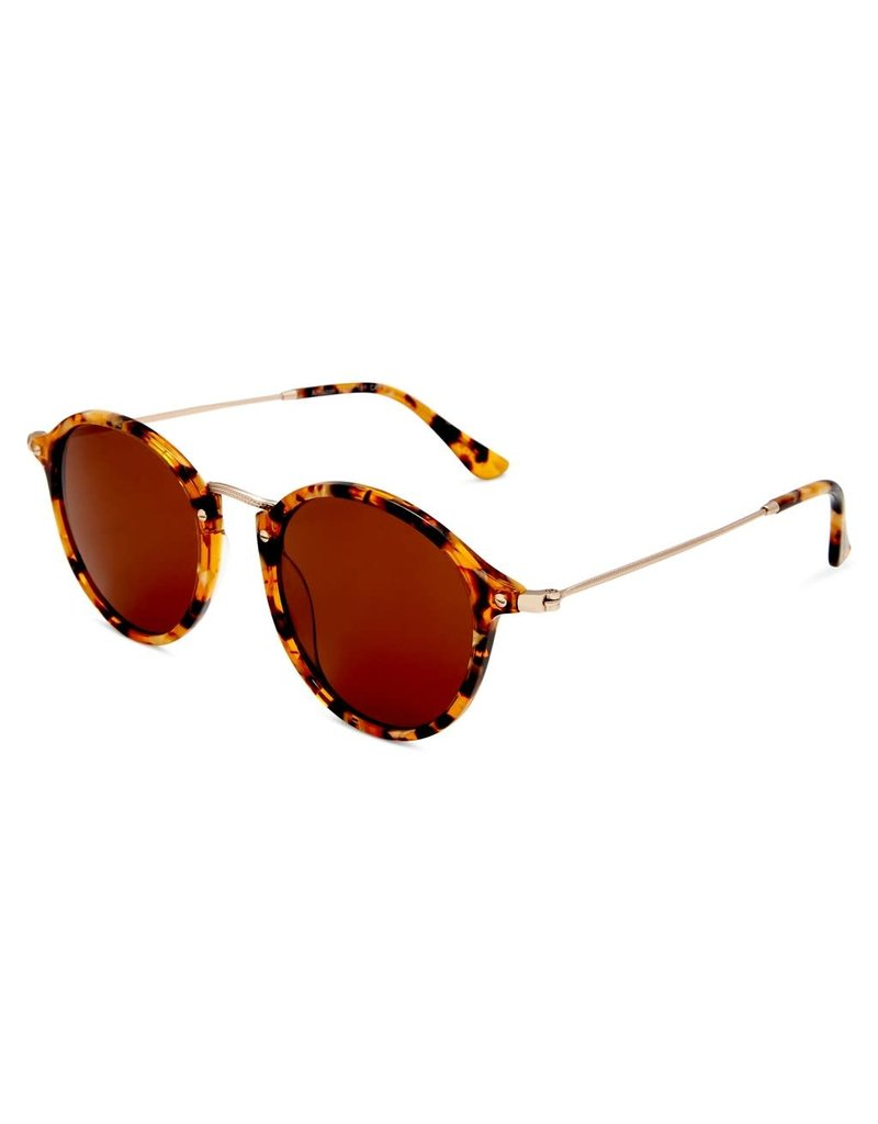 Amazon Polarised Retro Vintage Round Frame Sunglasses Tort-Brown