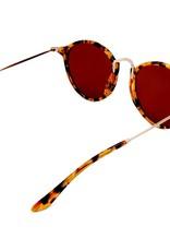 Amazon Polarised Retro Vintage Round Frame Sunglasses Tort-Brown