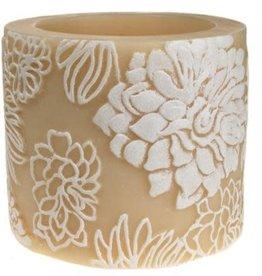 Japanese Chrysanthemum White + Ivory Candle