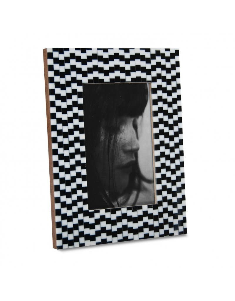 Horgans Black & White Small Squares Frame 4 x 6
