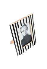 Horgans White Bone with Black Stripes Frame 4x6