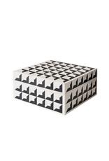 Horgans Black & White Inlay Square Box 15 x 15 x 7h