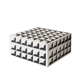 Horgans Black & White Inlay Square Box 15 x 15 x 7h