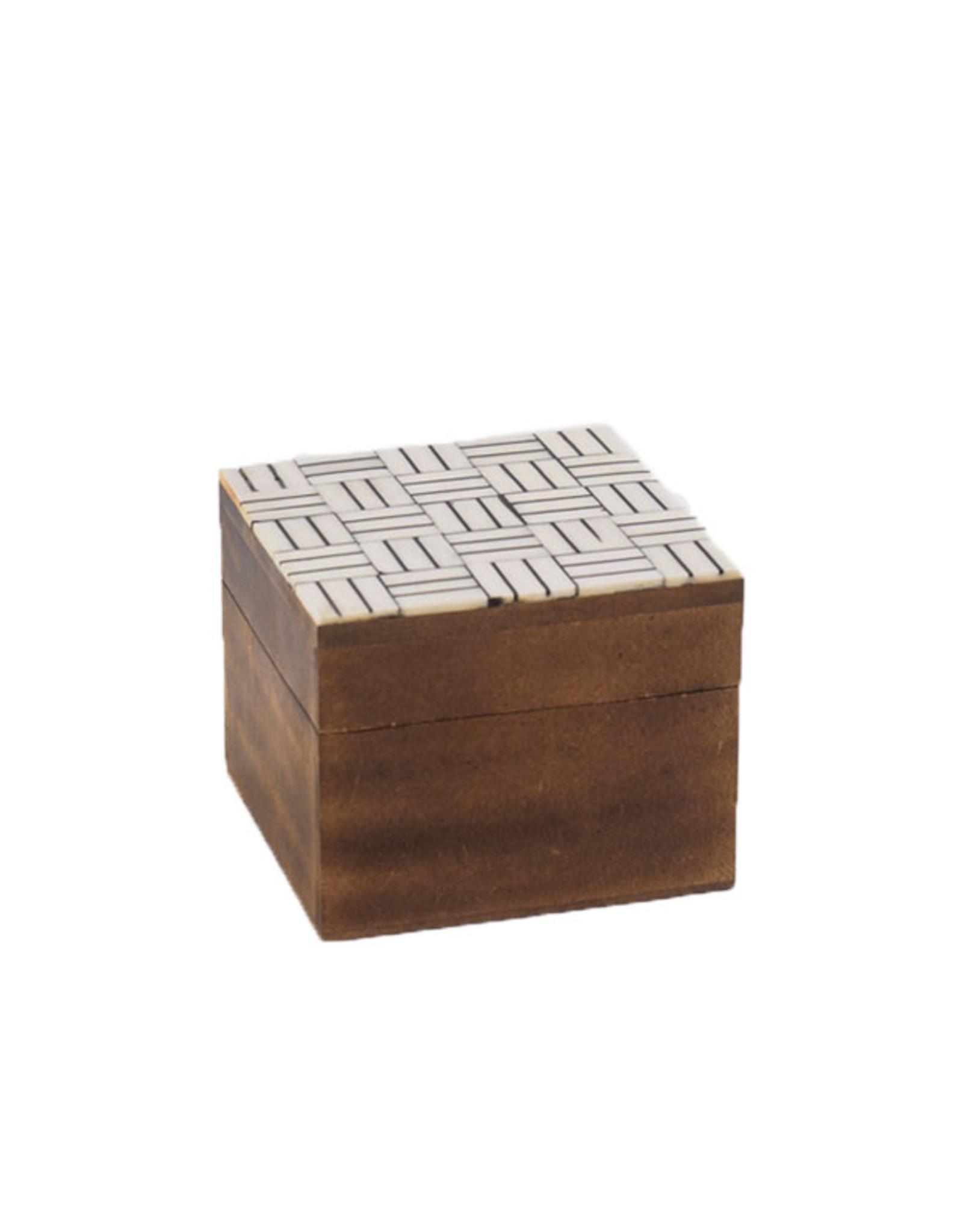Horgans Natural & Black Bone Top Square Box
