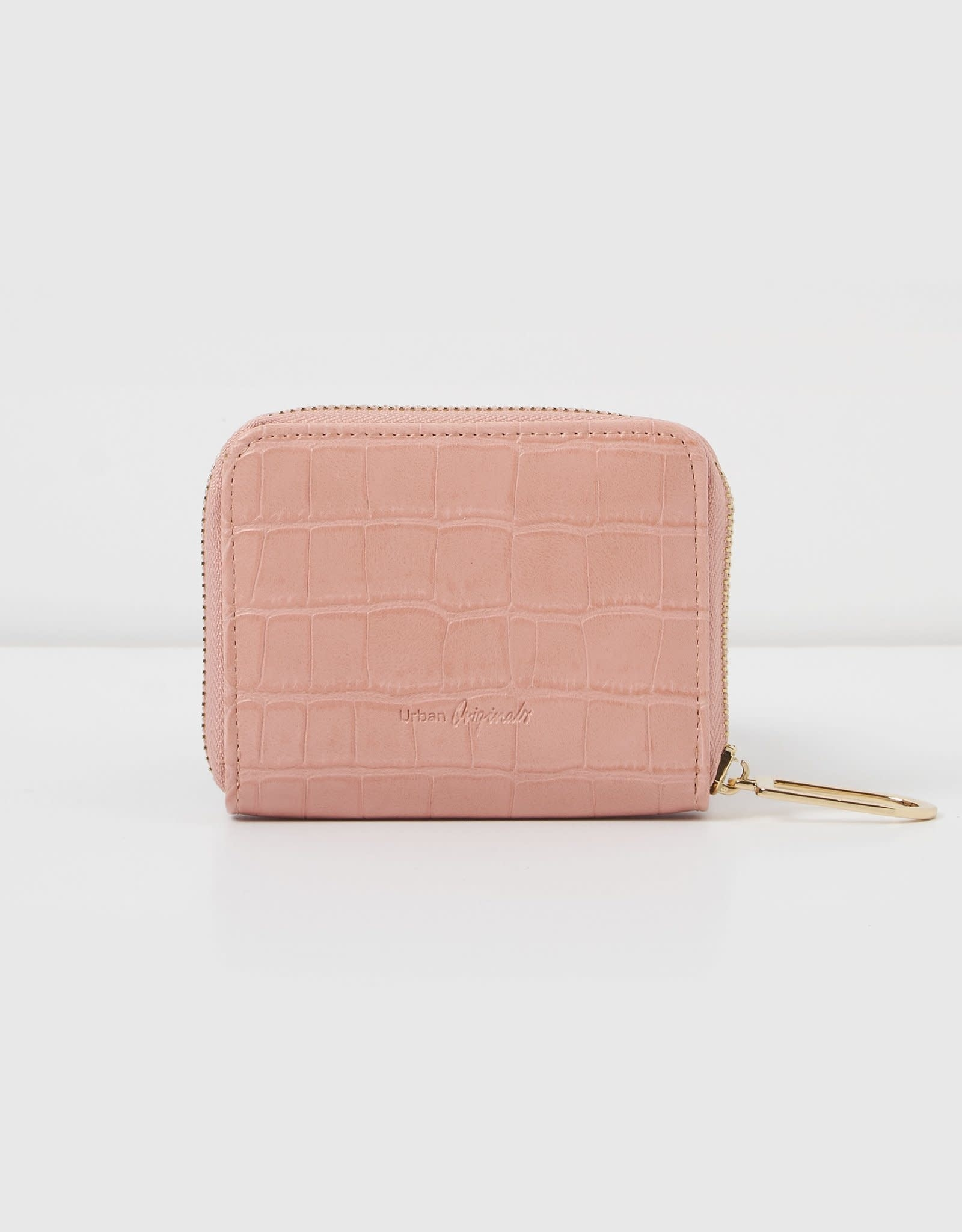 Essentials Pink Croc Wallet
